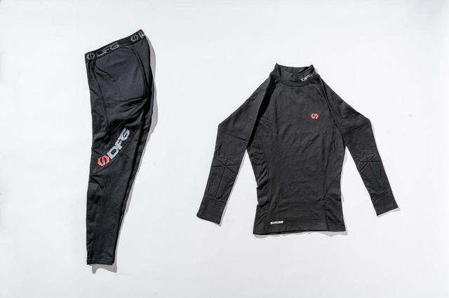 画像: 左:DFGネオフィットパンツサーマル(ブラック/Sサイズ) 右:DFGネオフィットシャツサーマル(ブラック/Sサイズ)