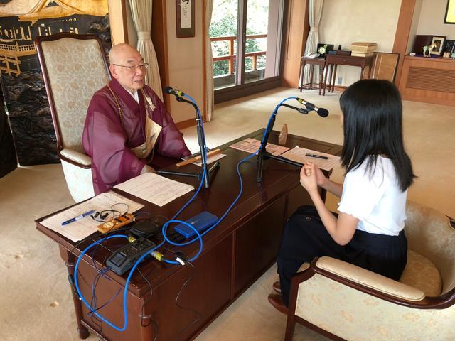 画像: 清水寺貫主 森清範さんにインタビューをさせていただきました。