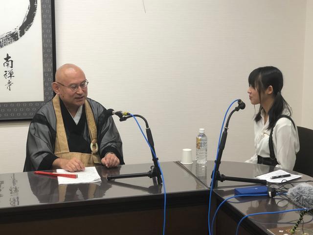 画像: 少林浩道信徒部長にインタビューさせていただきました。
