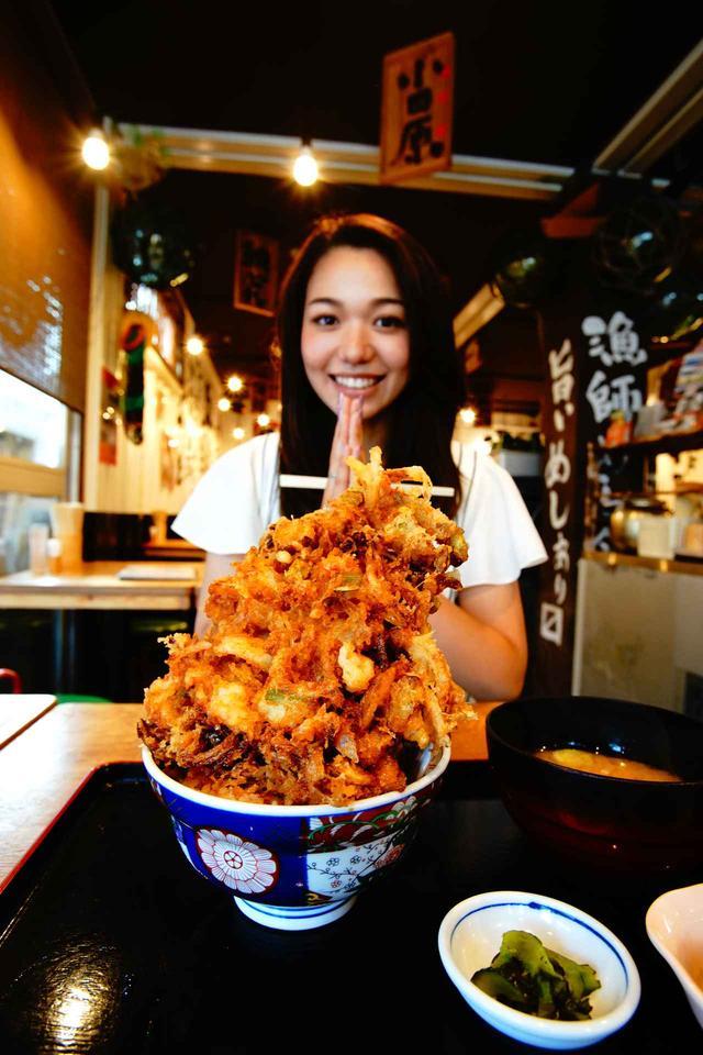 画像: 豪快漁師のかき揚げ丼1680円