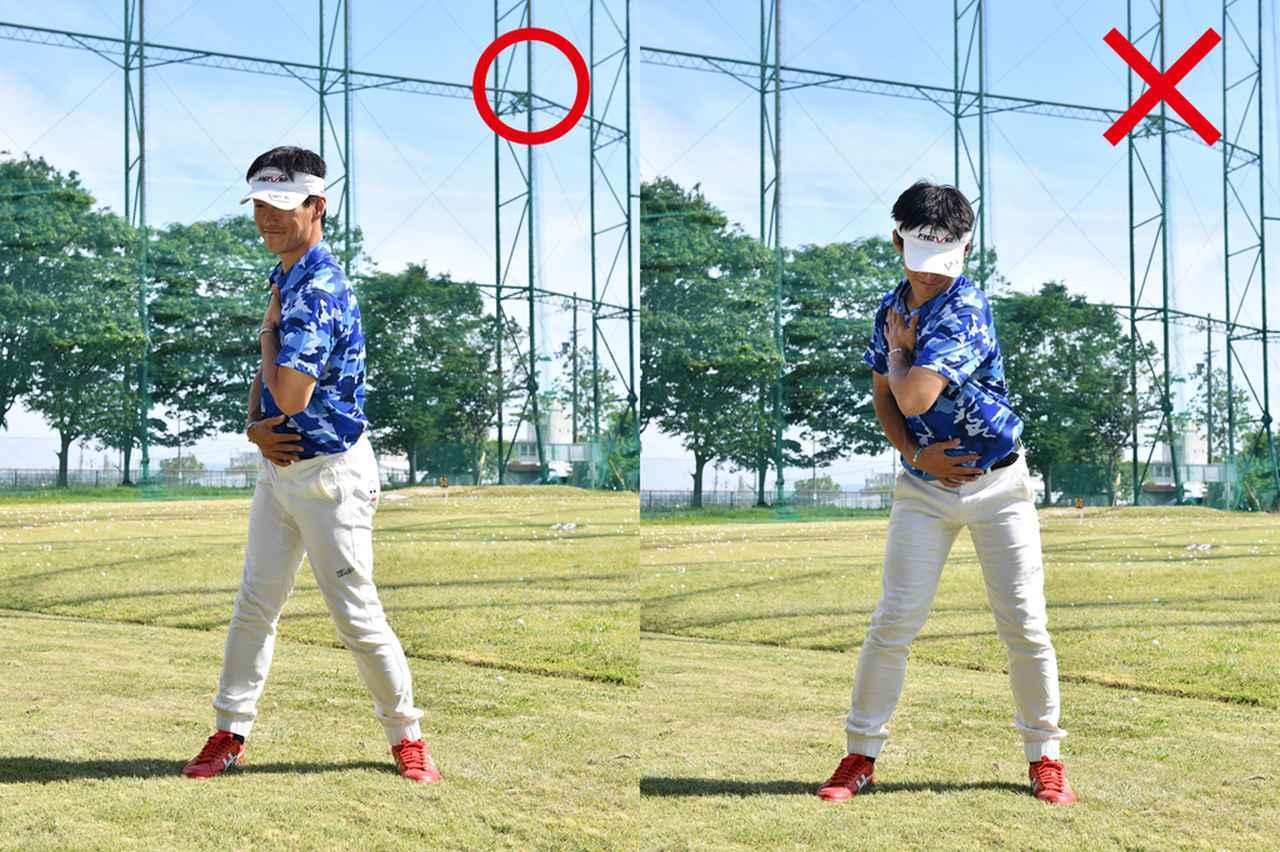 画像: 体全体を右に向ける
