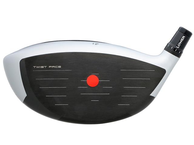 画像: シールの位置がフェース面上スウィートスポット。トウ上とヒール下目の打点に強く球のバラつきを抑える「ツイストフェース」採用