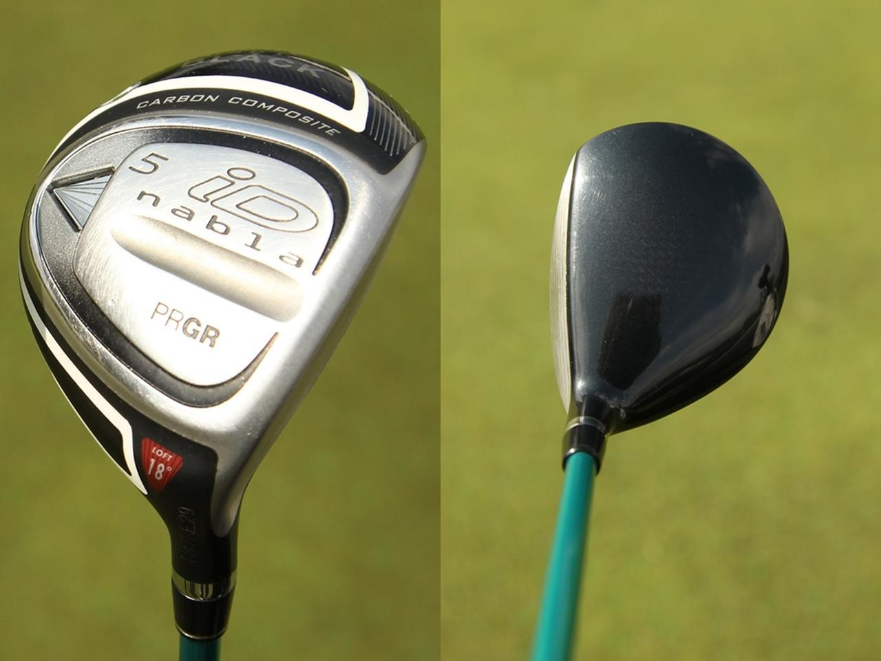 画像: 『iD ナブラ ブラック』は2012 年発売モデル。小平が契約当初からのお気に入りだ(写真左)出っ歯で重心角が大きすぎず、重心距離も長め。左へのミスなく高く打ち出せる(写真右)