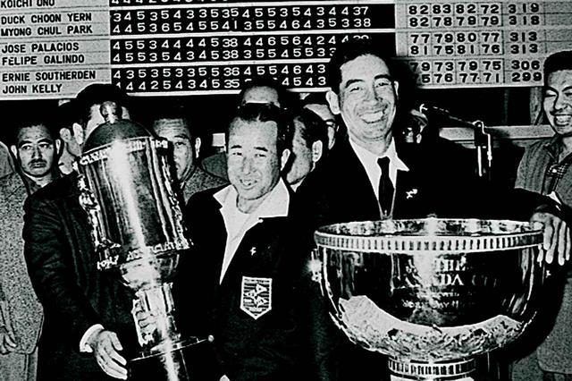 画像: カナダカップ優勝の中村寅吉(左)、小野光一(右)