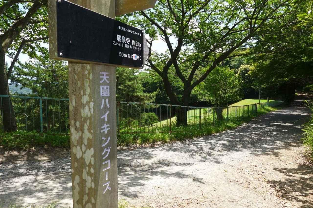 画像: 4番バックティのすぐ後ろは鎌倉天園ハイキングコース。ハイカーの視線がプレッシャーになる