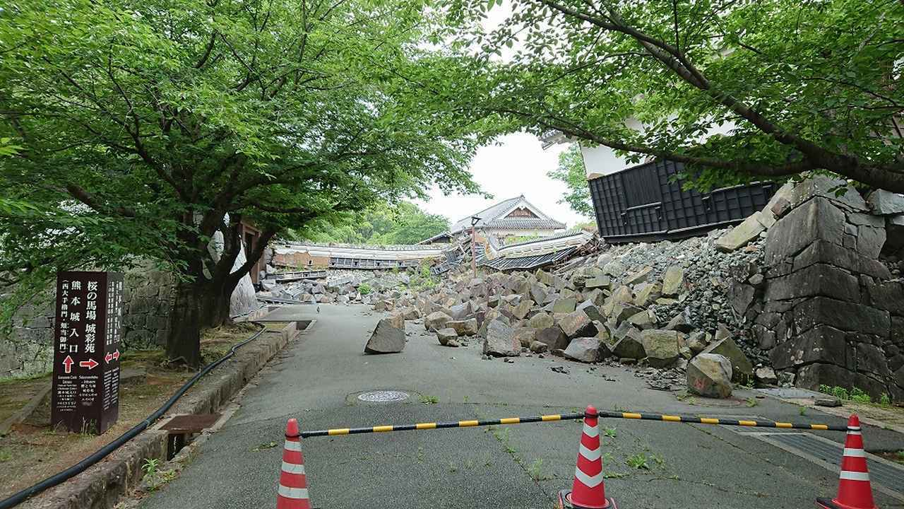 画像: 地震の破壊力の怖さを目の当たりに(2018年5月撮影)