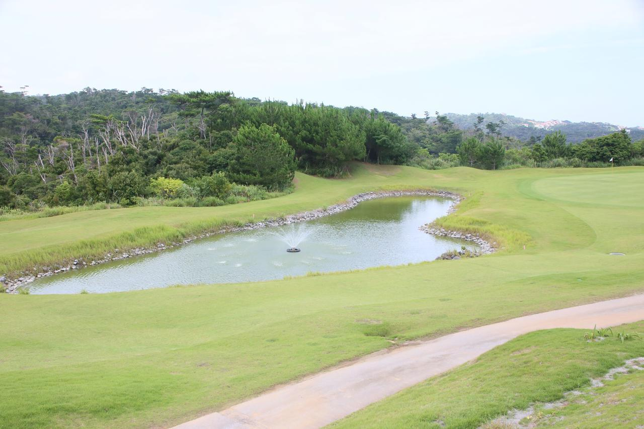 画像: グリーン手前には大きな池。ティショットも、セカンドも、正確なショットが求められる