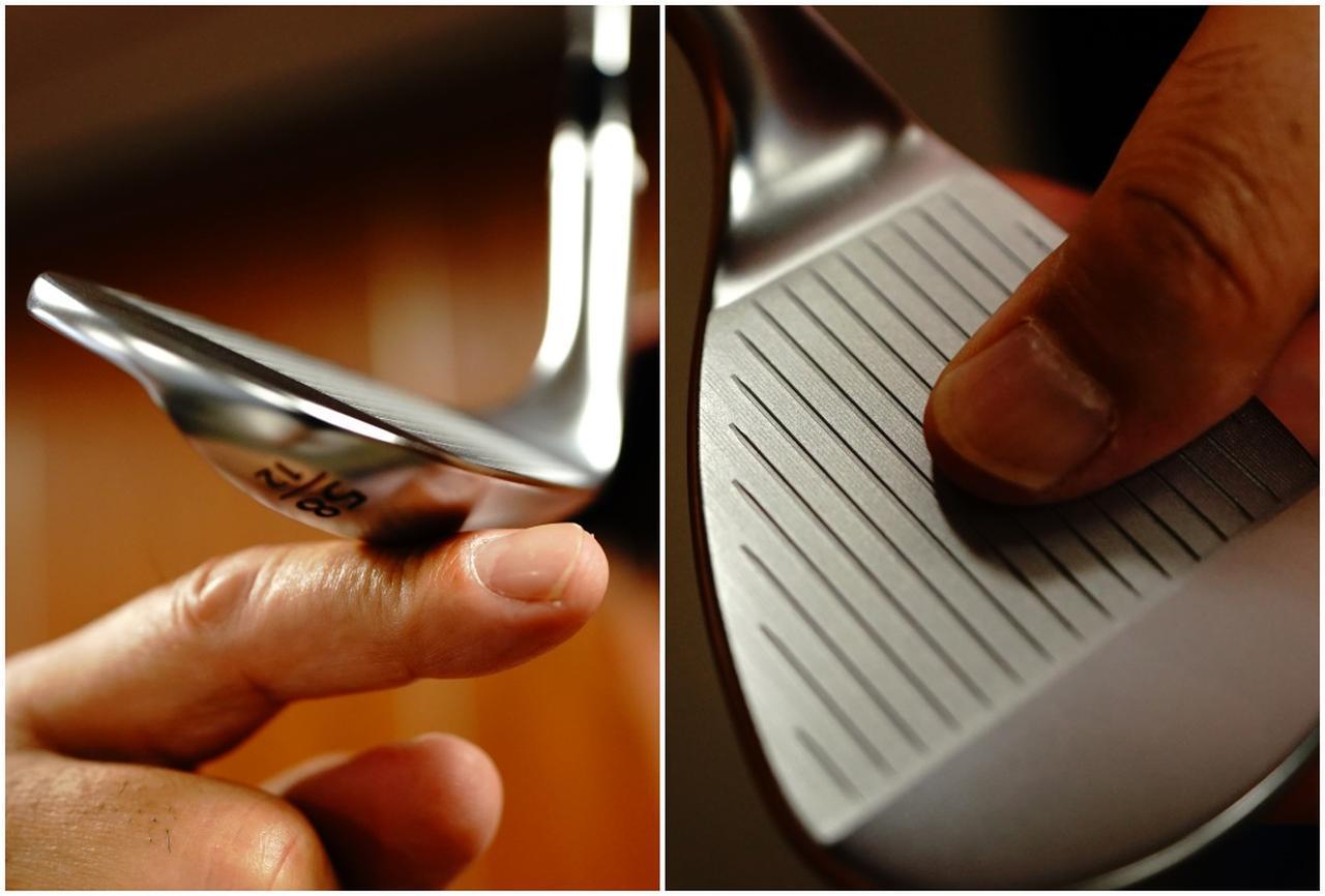 画像: 操作性の高い多面ワイドソールと、触ればわかるスピン性能