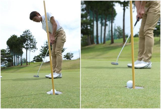 画像: ピンがない状態と同じタッチで打つ限り、入るべきパットがピンに弾かれることはなかった