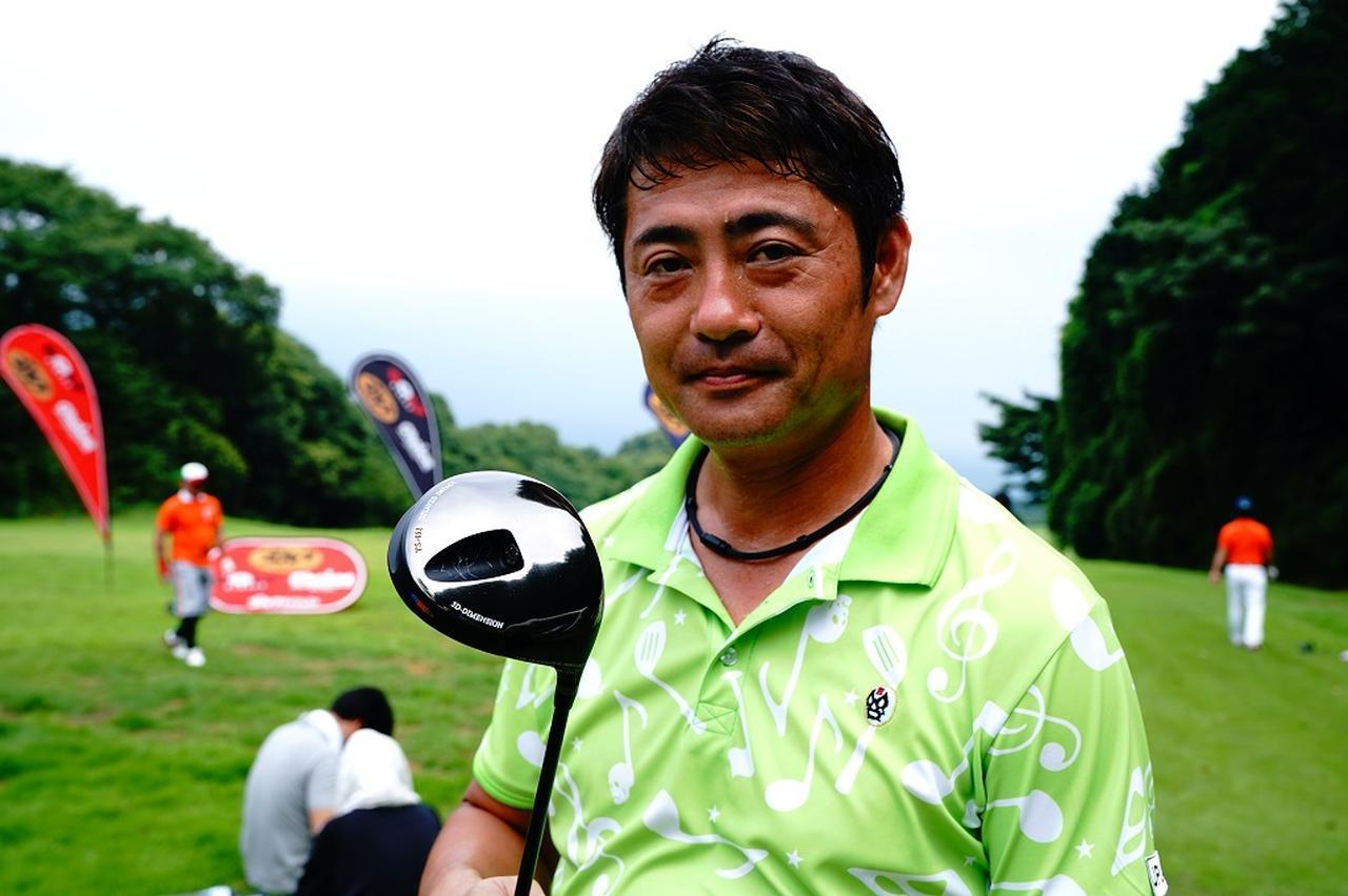 画像: 近藤鉄也選手(46歳) ヘッドスピード 60m/s 身長 175cm 体重 78kg