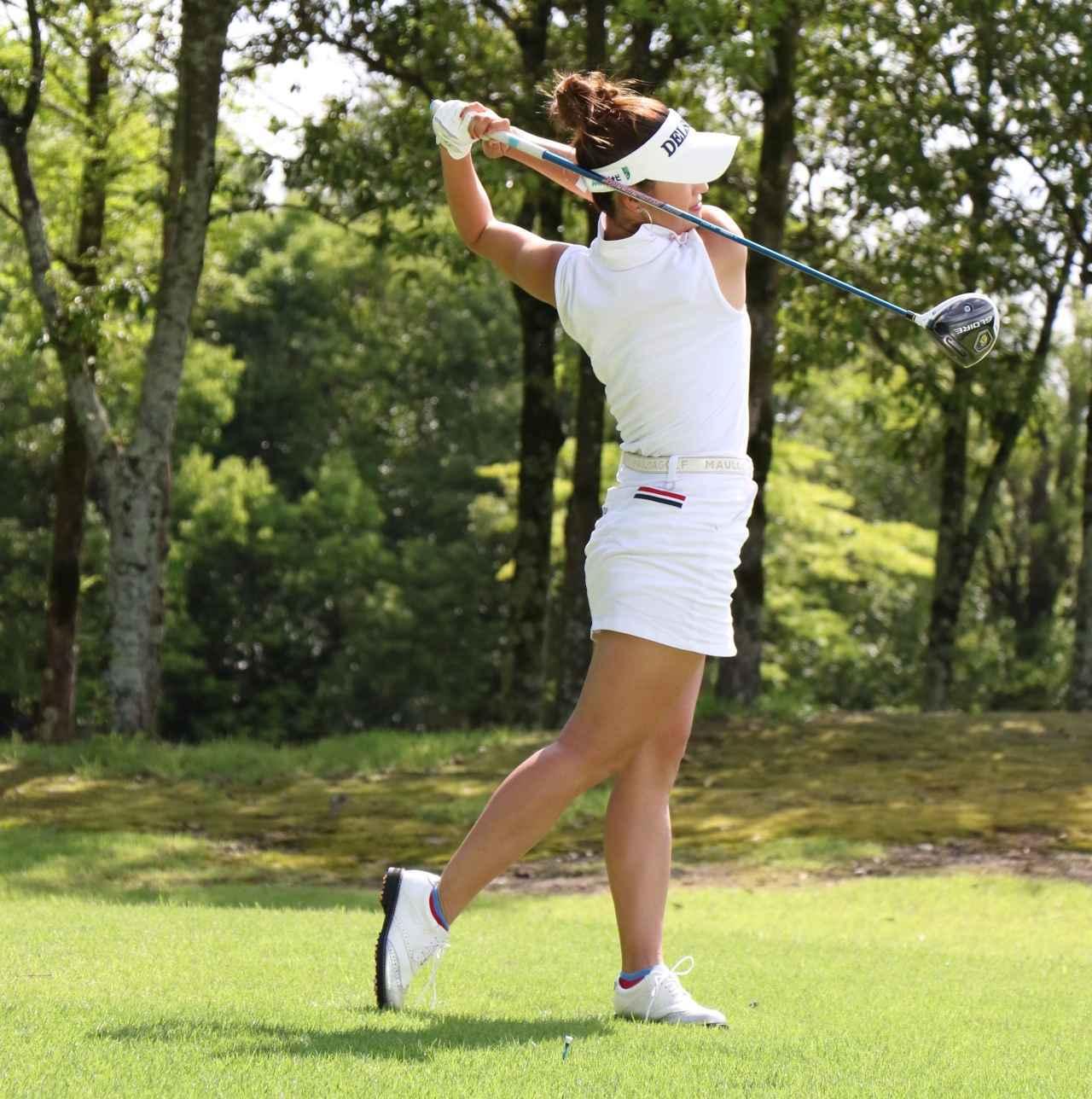 画像5: 【女子プロ百花/兼岩美奈】ガンガン攻めるゴルフが信条です。お団子ヘアを見つけたら応援よろしくお願いします!