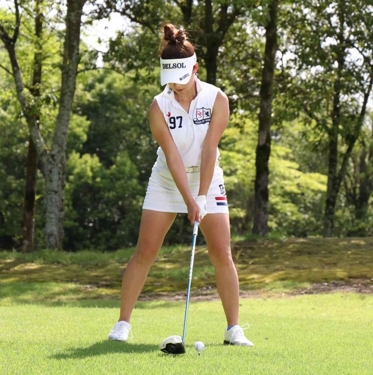 画像1: 【女子プロ百花/兼岩美奈】ガンガン攻めるゴルフが信条です。お団子ヘアを見つけたら応援よろしくお願いします!
