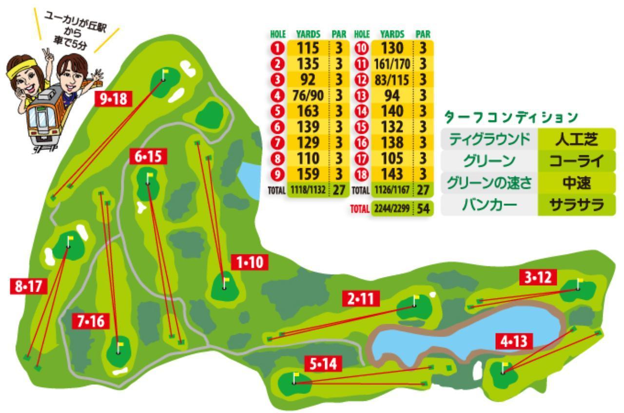 画像2: 最も長いホールは170ヤード。各グリーンには大胆なアンジュレーションあり