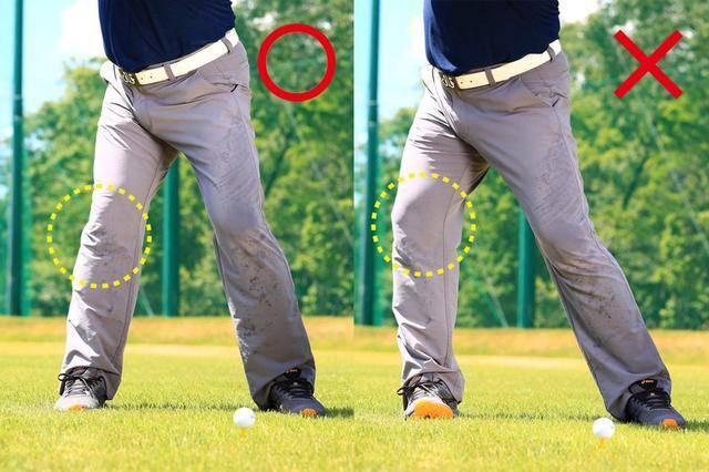 画像: 右足首で体重を受け止められると。右ひざが割れずに体が流れることがなくなります。これでピタッと止まった締まったトップが作れるように