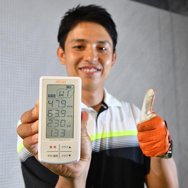 画像: 関口貴大さん 29歳/ゴルフ歴4年/平均スコア90。「シングル目指してもっと飛ばしたいです」杖前45.1m/s→杖後47.9m/s