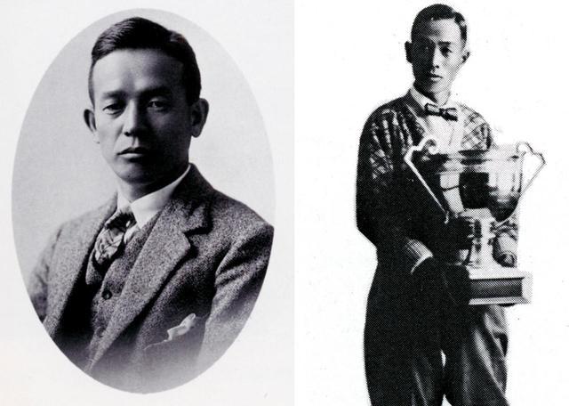 画像: 初期のコース設計に携わった、スコットランド帰りの伊藤長蔵(左)とプロゴルファー福井覚治(右)