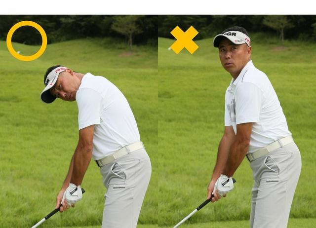 画像: Point.2「アドレスの前傾角度を変えずに目標を見る」