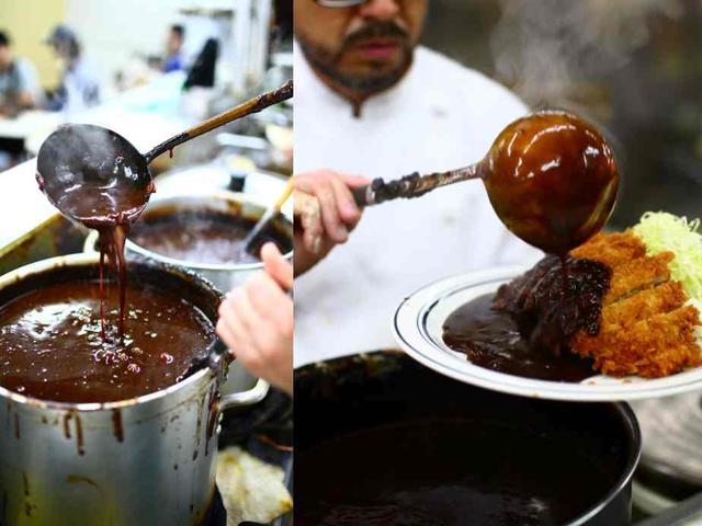 画像: 南海のルウは深い黒味をおびた濃厚な焦げ茶色