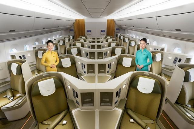 画像: 最新鋭機A350-900のビジネスクラス