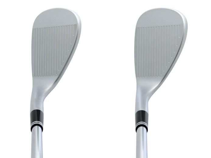 画像: リーディングエッジに丸みがあり、開い手使いやすい顔も◎(左が52度、右が58度)