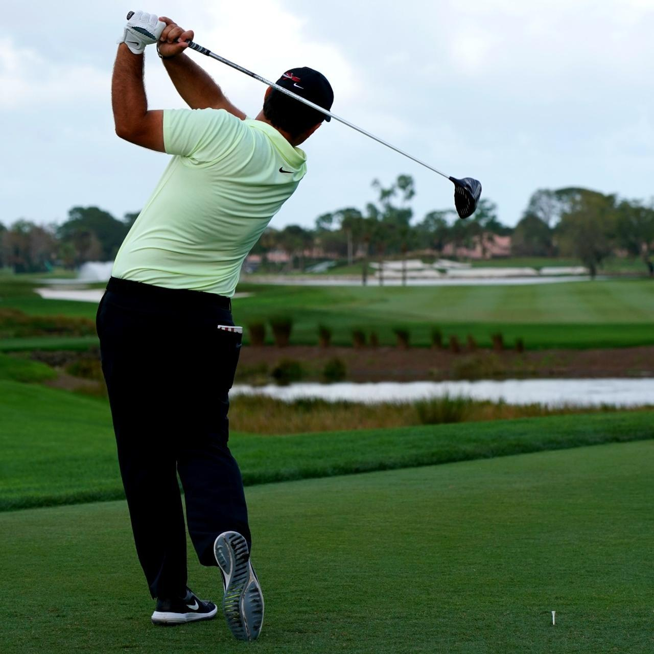 画像7: 【パトリック・リード】天才肌ドローヒッター! 右股関節の上に乗って腕をしっかりローテーション
