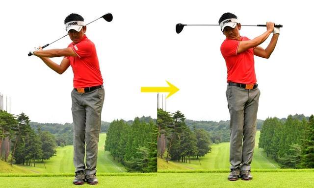 画像: 両足を閉じて振ると、腕を使う感覚がつかめる