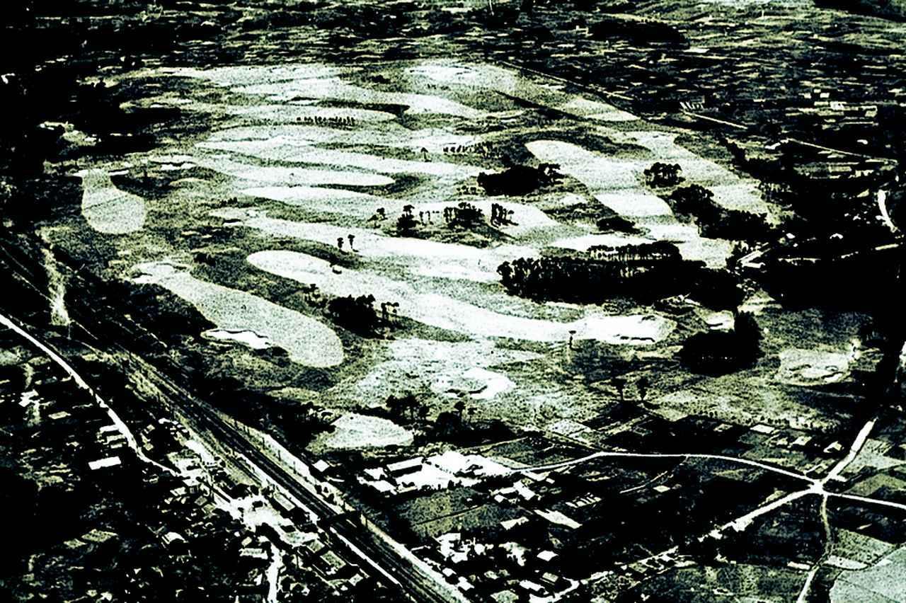 画像: 昭和11年のコース風景
