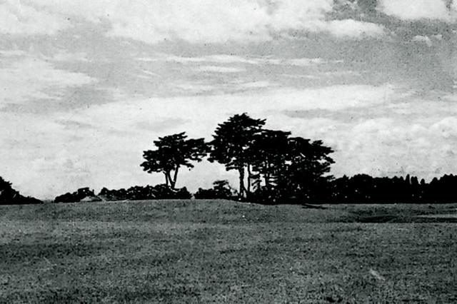 画像: 戦後間もない頃の9番ホール。グリーン周辺はほぼフラット、奥を数本の木がガード