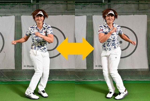 画像: 腕を振りながら上半身と下半身を逆に動かす。少しジャンプを加えてもOK。地面反力を使いながら回転スピードも上げる。10秒間、自分ができる範囲で速く行いましょう