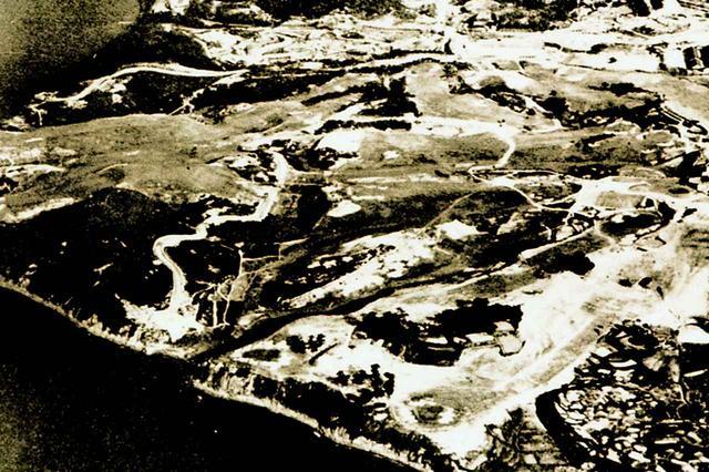 画像: 戦後(昭和30年代初頭)に撮影された航空写真。リンクスそのものだ