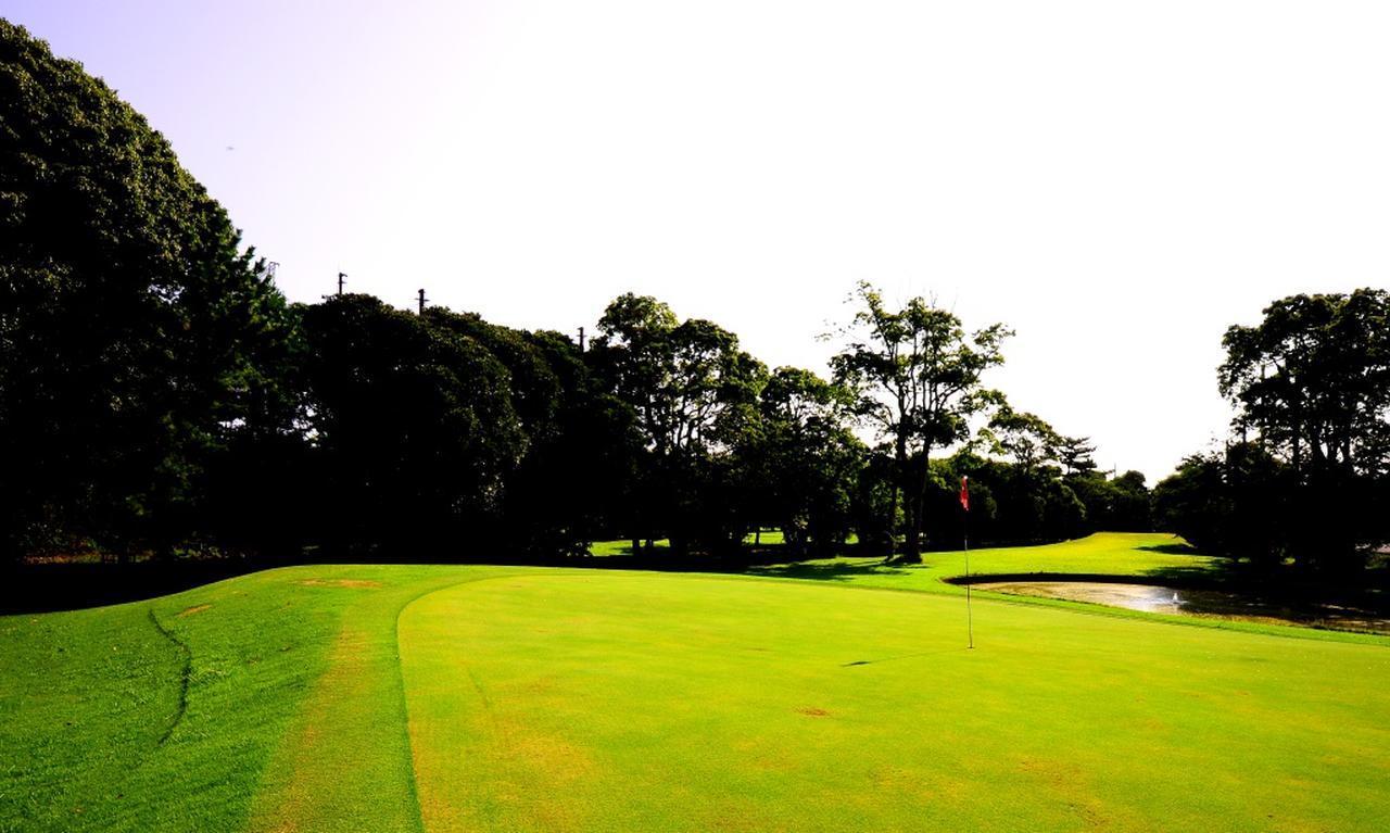 画像: グリーンは高麗芝。ご覧のような急傾斜も随所に登場