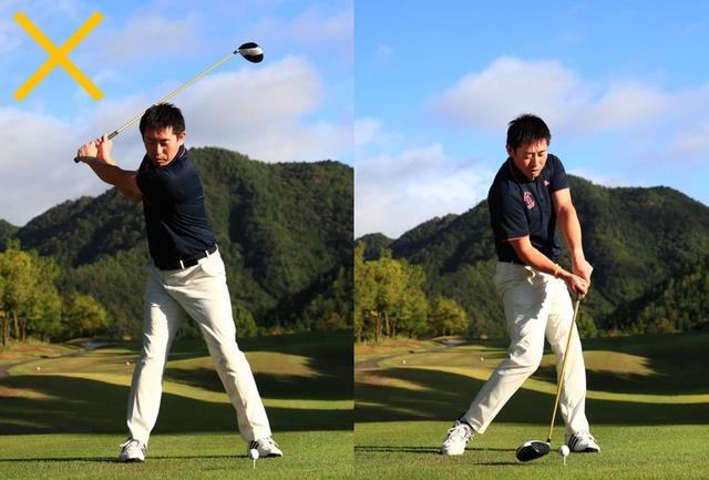 画像: 回転を意識すると上半身を回す動きが強くなり、下半身に粘りがなくなる。結局、腕や手先に頼ったスウィングになるので力は出ないし、反復性も悪くなる
