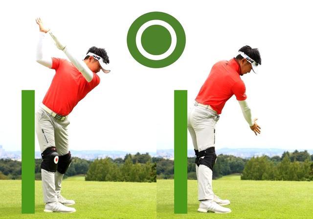 画像: お尻を前に出さずに動けば、両ひざの高さも変わらない
