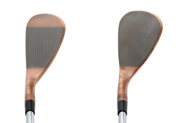 画像: 56~64度は全面スコアライン仕様でスピン量が安定する(左52度、右58度)