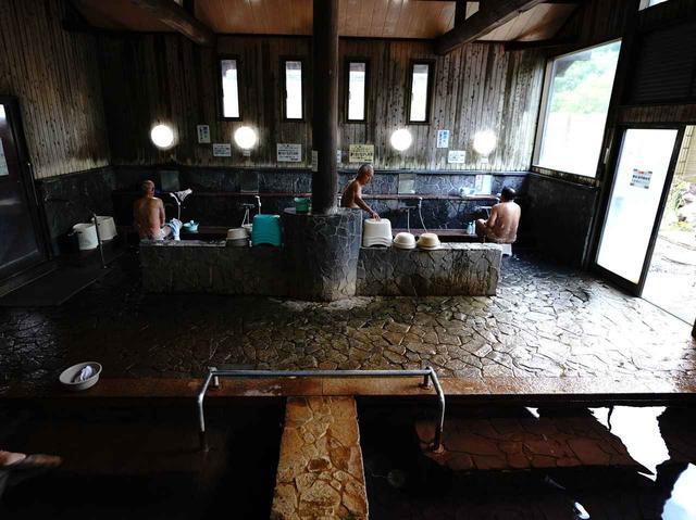 画像: 泉質/単純温泉 温度の違う2つの温泉や露天、蒸し湯がある