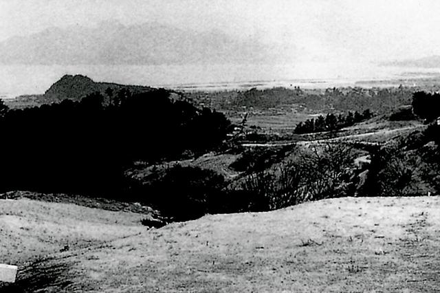 画像: 昭和27年のコース風景