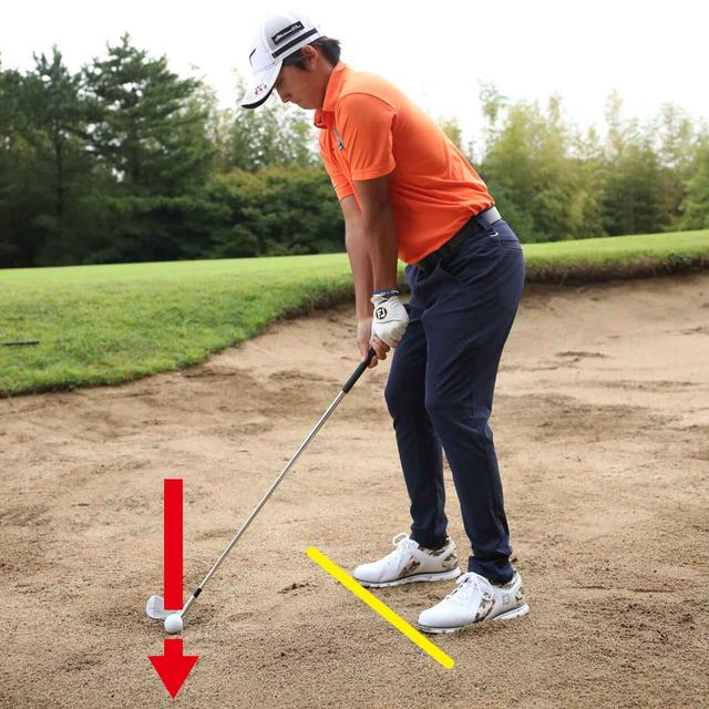 画像: ポイント③オープンに構えるのは「上から左に」振りやすくするため
