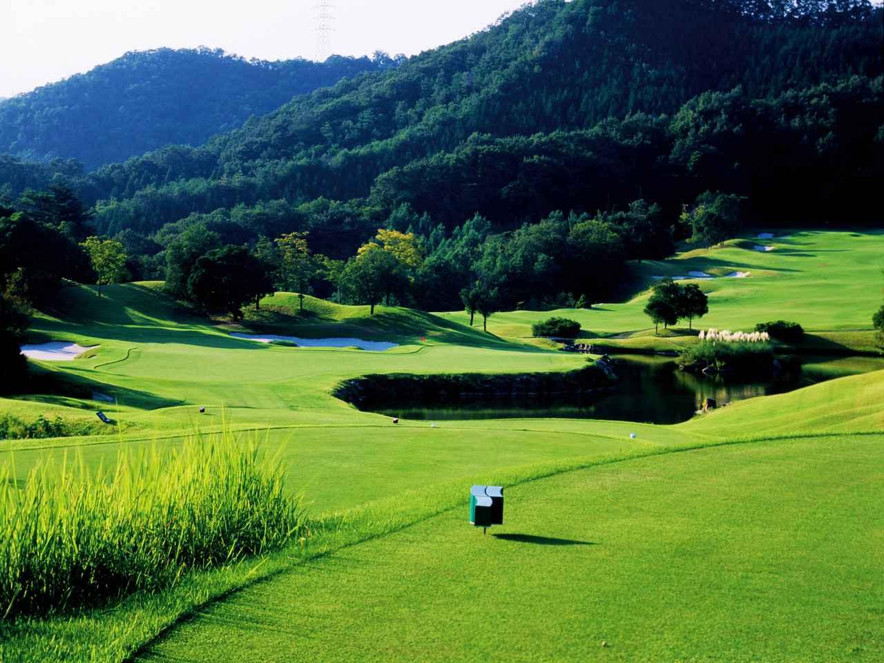 画像: セントクリークゴルフクラブWESTコース3番(210ヤード、パー3)
