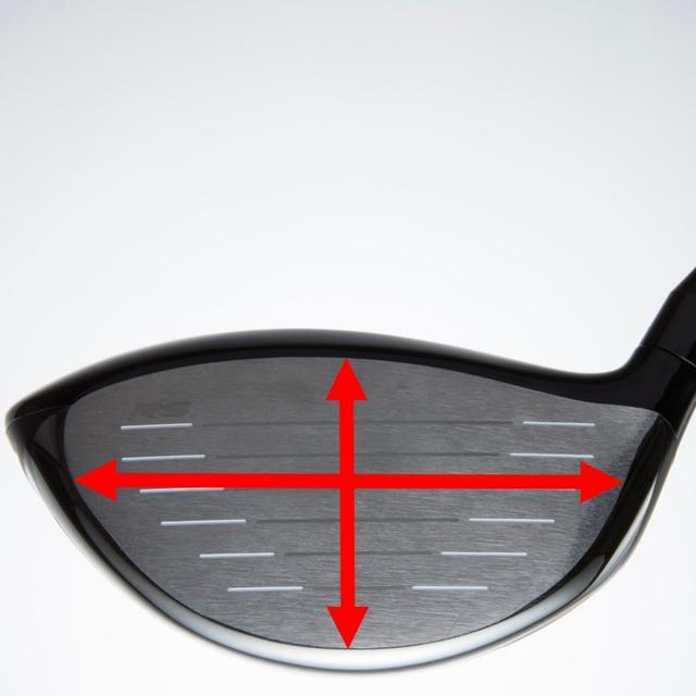 画像: スウィングタイプと打点傾向に合わせ、フェースの上下と左右、2つの慣性モーメントを最適化。「Wモーメント」設計により、打点のズレによる飛距離ロスを抑え、多少のズレなら芯ヒットに近い飛びを可能にした。