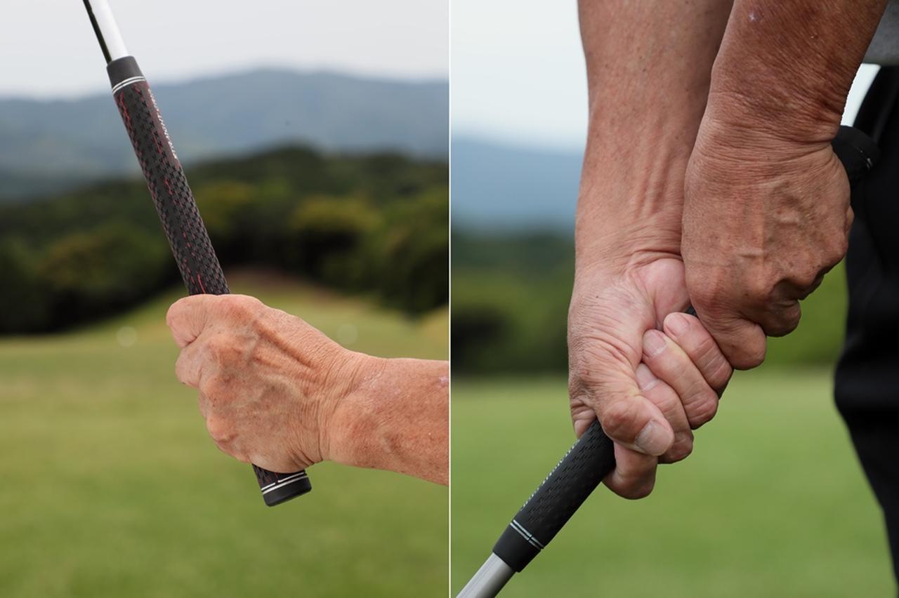 画像: 桜美式グリップ…左右分担型グリップは指に負担がかからず、スウィングがシンプルで安定する