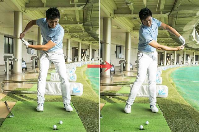 画像: 「手をネジらない動きも体感できるうえに、縦方向の力を使う感覚もわかる。上体を前傾して行うと、地面を蹴った力を回転の動きに変えてスピードを出す感覚が、より鮮明になります」