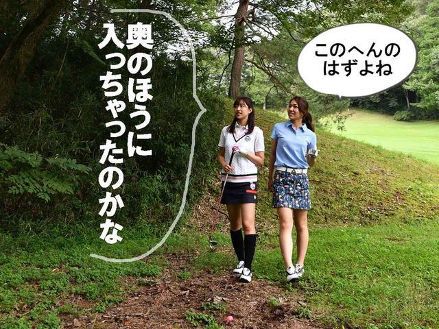 画像1: 【ルール】ボールが動物の足跡の中に! 救済できる? それともそのまま打つしかない?