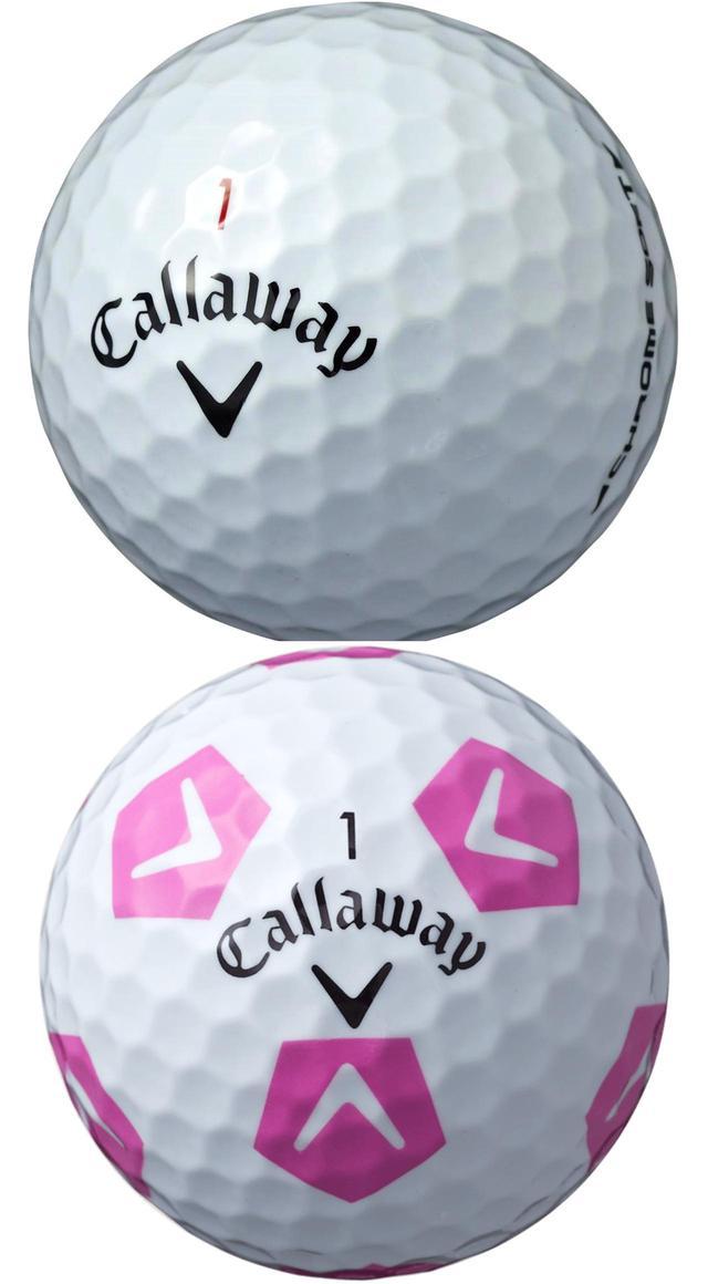 """画像: キャロウェイ""""クロムソフト"""" ソフトなのに、圧倒的な飛びと打ちやすさも追求したツアーボール。全てのコアの層を再設計し、画期的な新素材「グラフェン」を注入。ボールの初速が劇的に向上した"""