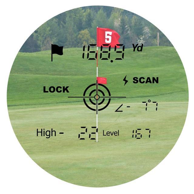 画像: 新機能「ロックオン」を搭載。計測できた際に「Lock」の文字が浮かび上がりわかりやすい