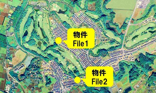 画像: コースと住居がまさに一体