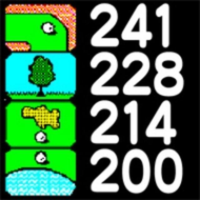 画像: 現在地点から、バンカー、池、木といったハザードまでの距離を各ホール8個まで表示