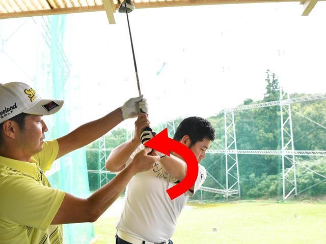 画像: 砂田さんのスウィング。パワフルで力強さで感じますが…
