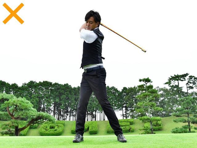 画像: オーバースウィングになると、重い棒はとくに速く振れない