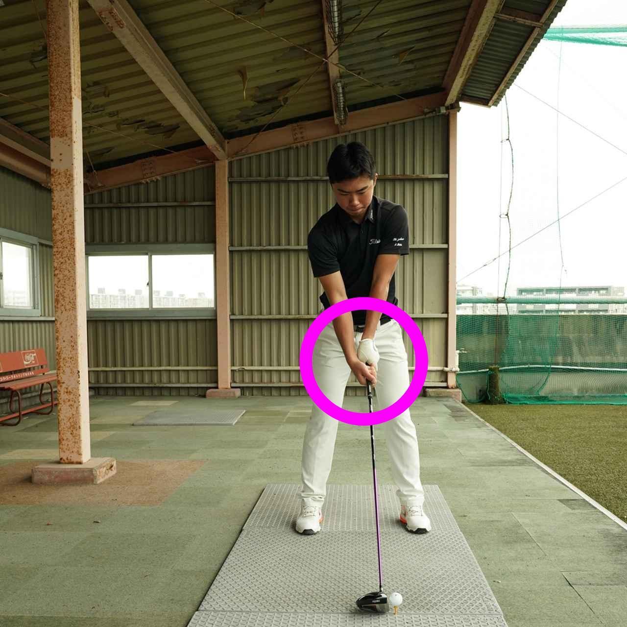 画像: 身長は180センチ、桜美式ゴルフの大型選手だ