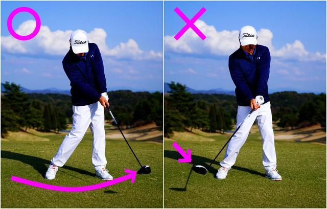 画像: インパクトは「打つ」感覚よりも、フォローまで「振り抜く」感覚をもちましょう。インパクトのヘッドスピードが速くなり、飛距離アップにつながります